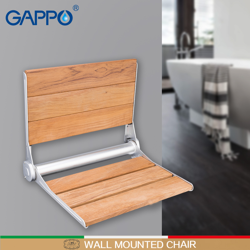 Gappo Wall Mounted Shower Seats Folding Waiting Chairs Bench Relax Chair Shower Seats Bathroom Stool Cadeira Bathroom Fixtures Wall Mounted Shower Seats