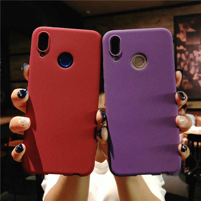 Slim Frosted Sand Texture Matte Case for Huawei P20 Lite P10 P9 P8 2017 Mate 10 Cover Honor 8 9 5A 5C 6A 6X 6X 7X TPU Phone Case