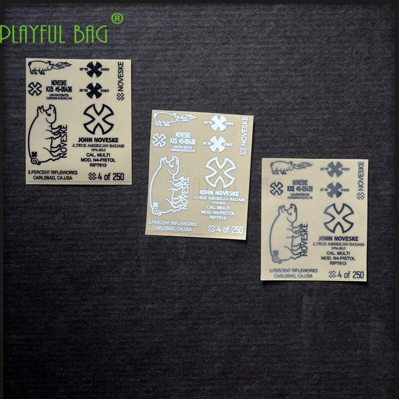 Metal Waterproof DIY Sticker Toy Water Bullet Gun Mk18 New Weill G36 Jin Ming 8 Generation For M4 Le Hui SCAR Yue Hui Ak74 L36