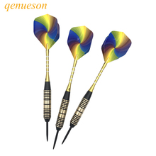 New High Quality 3 pcs/lots of Hard Tip Brass Darts 24g Professional Indoor Sports Dart Needle for Sporting Games qenueson