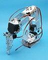 1 conjunto de Alumínio Robô de 6 DOF Braço Robótico Mecânica Braço de Fixação Garra Kit de montagem W/Servos Servo Chifre Para Arduino DIY Peças do Robô