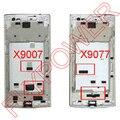 5 шт./лот, Черный или белый передней корпус передней панели для Oppo найти 7 X 9077 X 9007 на бесплатный Shipipng