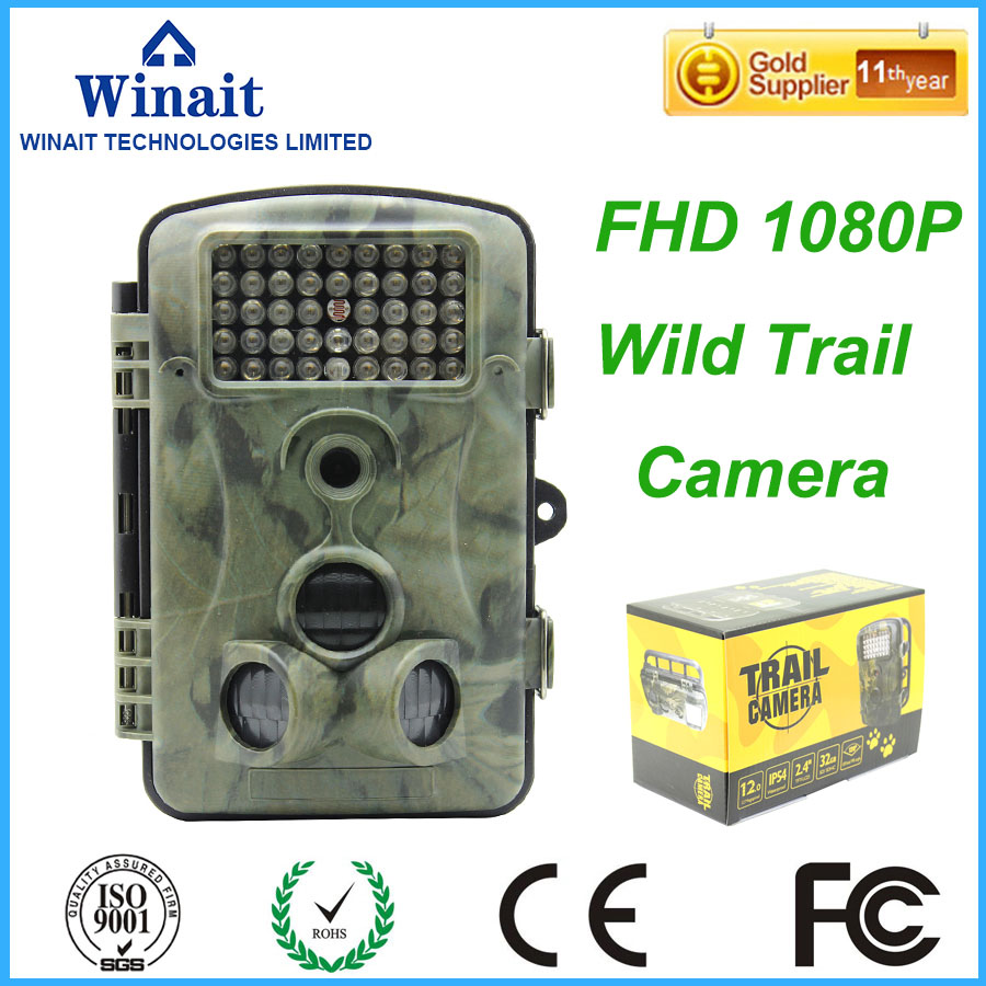 FULL HD 1080P FHD Wild Hunting Trail Camera with automatic IR filter waterproof IP54 hunting camera