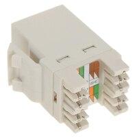 10pcs Cat 6 RJ45 8P8C Punchdown Keystone Modular Ethernet Snap In Jack Network