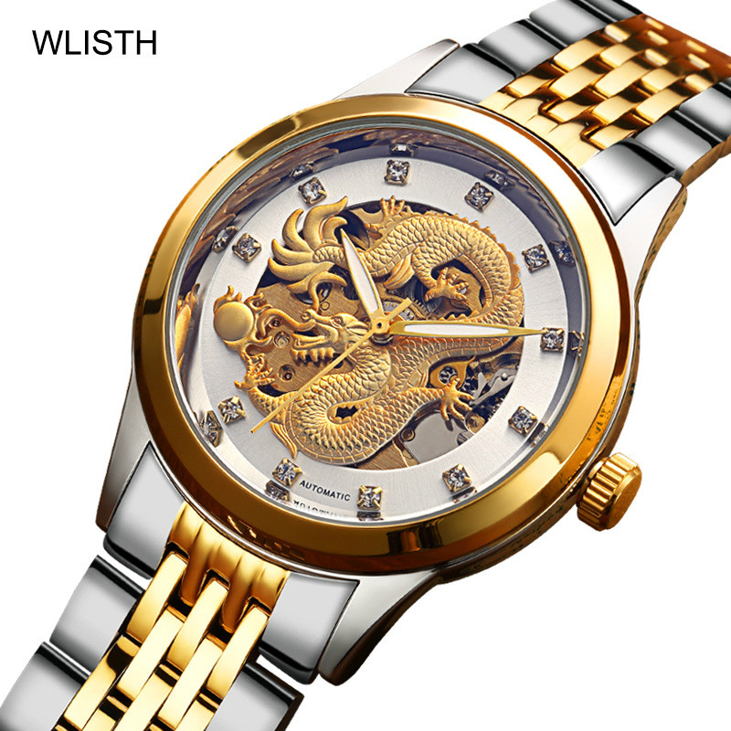 2019 Top Brand Luxury Golden Dragon Watch Automatic Mechanical High-grade Steel Business Waterproof Watch2019 Top Brand Luxury Golden Dragon Watch Automatic Mechanical High-grade Steel Business Waterproof Watch