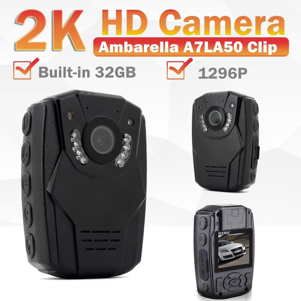 Blueskysea 2K HD 1296P S60 Body Personal Security &Police Camera Night Vision 6-hour Record 32GB цена
