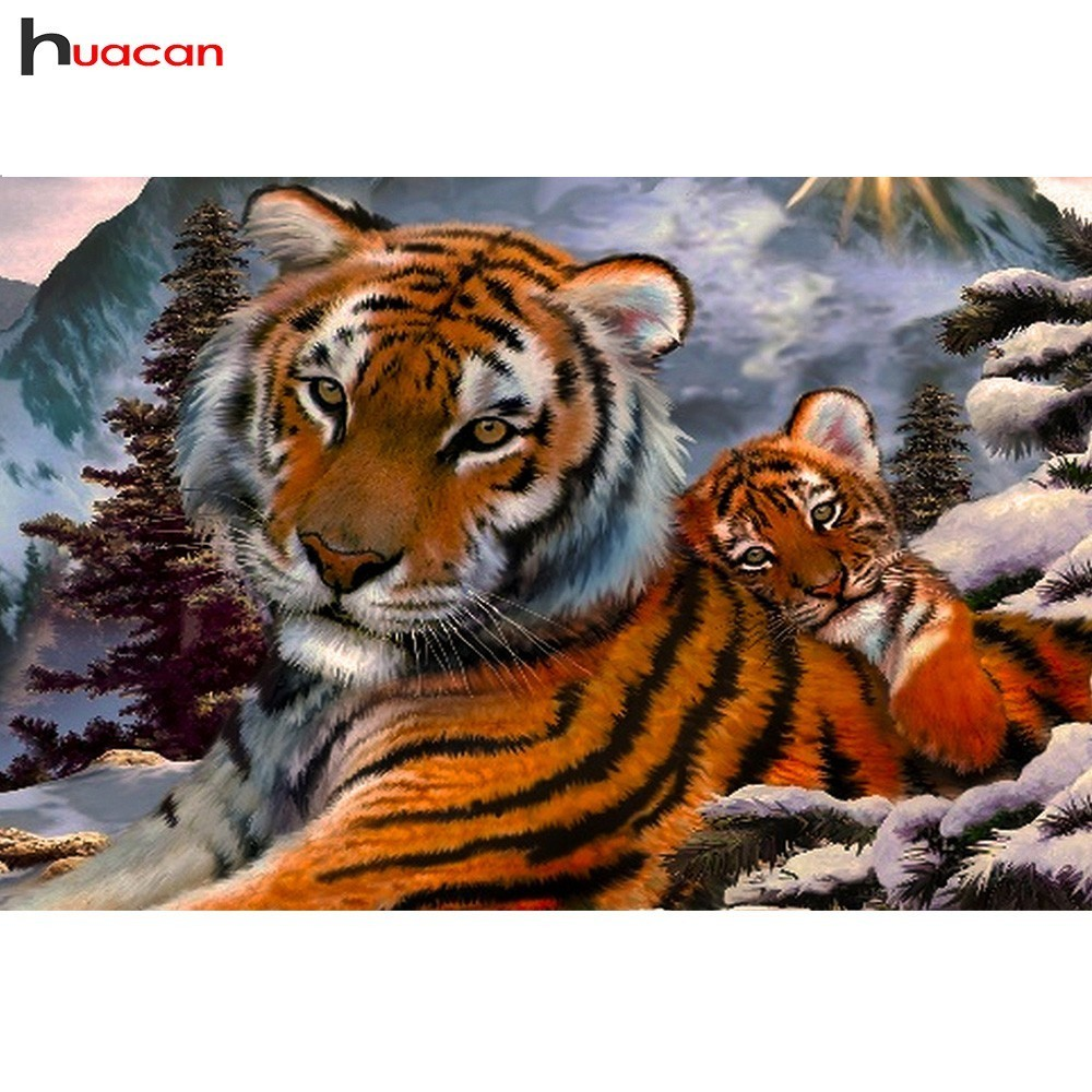 Diamante Mosaico Tigre DIY 5D Pintura Diamante Cross Stitch Kits Padrões Pedrinhas Handmade Hobby Diamante Bordado Animal