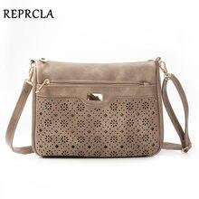 304f5e8d3b REPRCLA New Double Zipper Women Messenger Bags Hollow PU Leather Shoulder  Bag Female Crossbody Vintage Women