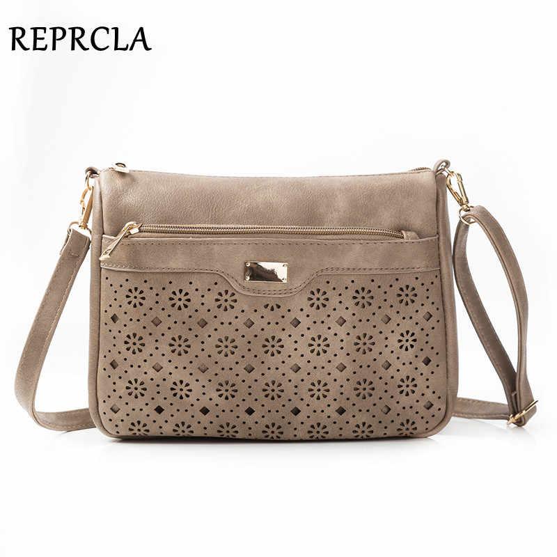 REPRCLA, новинка, двойная молния, женские сумки-мессенджеры, полые, сумка через плечо из искусственной кожи, женские сумки через плечо, винтажные женские сумки, кошелек