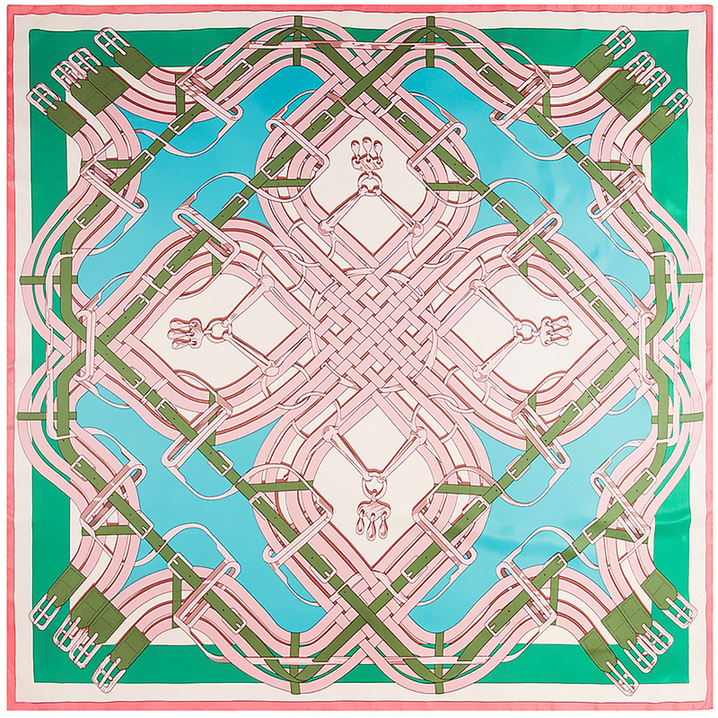 6color Green scarves 2018 new fashion women Luxury Square silk scarf Classic printing lady square scarves summer women scarf