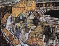 Landscape art abstract The House Bend or Island City Egon Schiele Paintings for sale High quality Hand painted
