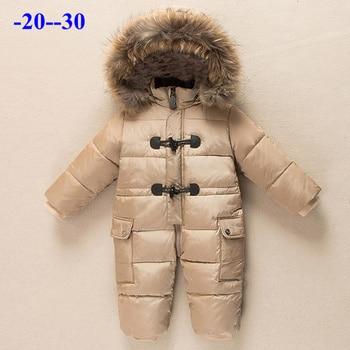 Winter Fur Hooded Snowsuit for Babies 2