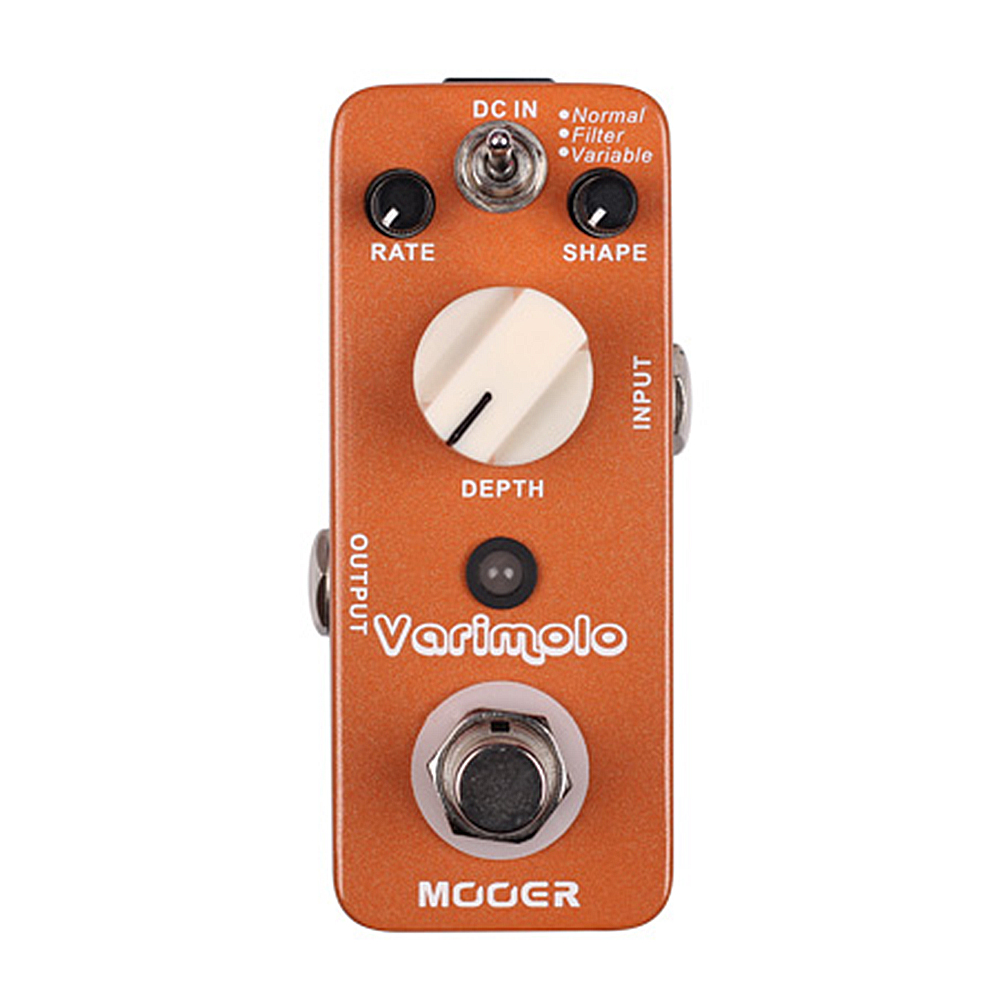 Mooer Varimolo Tremolo Digital Effects Electric Guitar Effect Pedal True bypass mooer blade boost guitar effect pedal electric guitar effects true bypass with free connector and footswitch topper