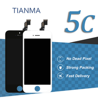 10pcs For Iphone 5C LCD Display Tianma Quality 4 Inch Black Pantalla Touch Screen Digitizer Assembly