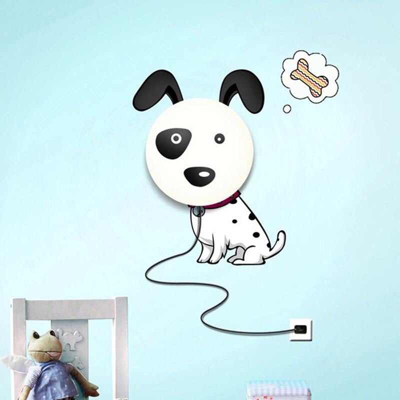 Wallpaper 3d Wall Lamp Children S Room Cute Dog Wall Light 3d