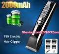 Professional T69 Electric Hair Clipper razor Titanium Blade 2000mAh Battery Men's Beard Trimmer Hair Cutting Machine Family Use