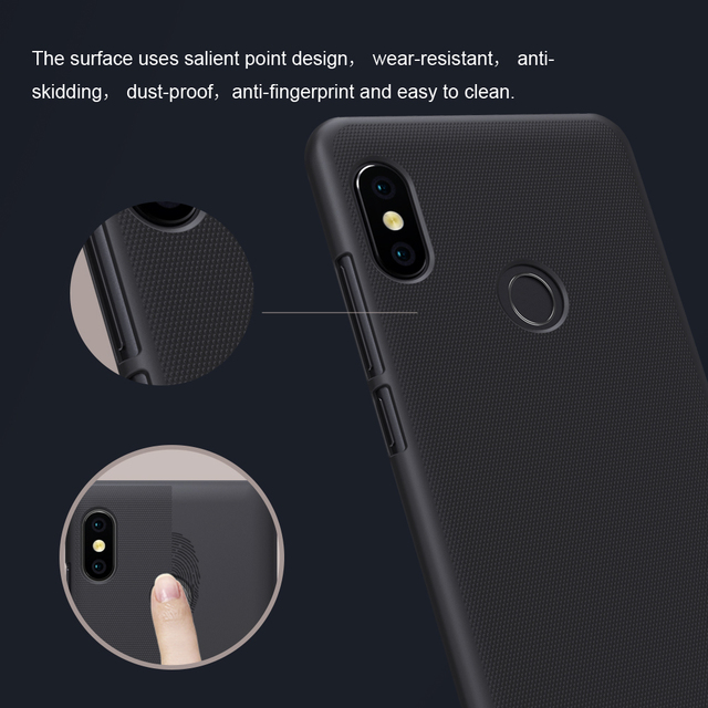 Nillkin Redmi Note 5 Pro Frosted Hard PC Back Case Cover