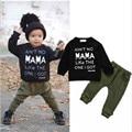 2pc/set Children Clothes Sets Spring Autumn Cotton Suit Set Boy Clothes Kids Sport Leasure Clothing Letter Pattern Full Trousers