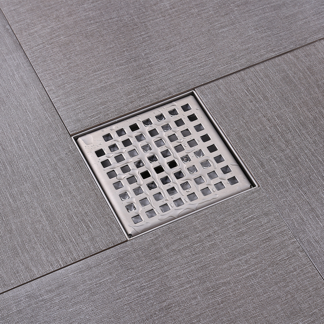 Kes Square Shower Floor Drain With Removable Grate