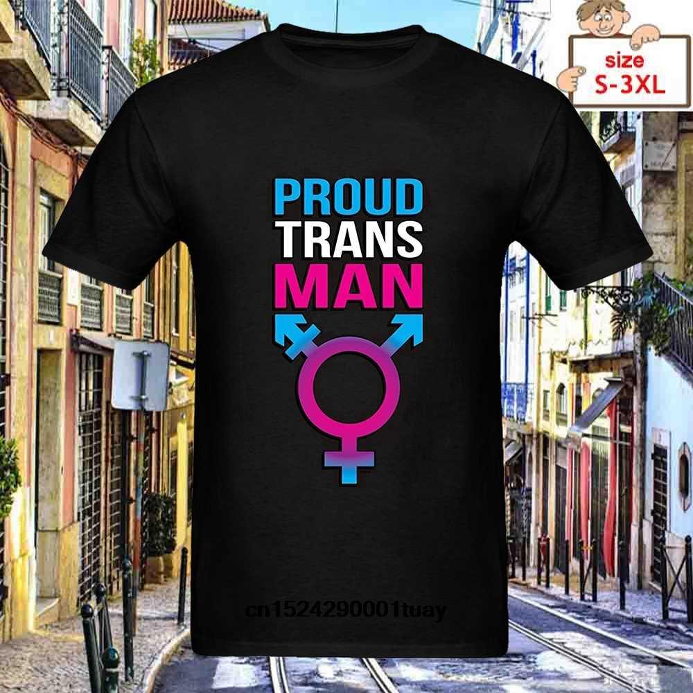 0316dc8b Fashion Brand Clothing Proud Trans Transgender Pride New Summer Cotton Men T -shirt Hip Hop