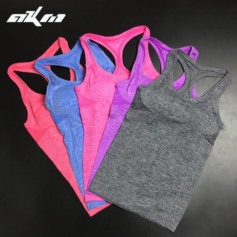 Donne Camicie Elastico Signore Gilet Gilet di Fitness Traspirante Confortevole Doppio Movimento Non Cerchi Canotta