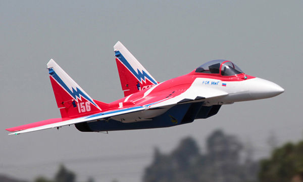 Skyflight LX Red Twin Metal 70MM EDF MIG29 RTF RC Airplane Model W/ Motor Servos ESC Battery