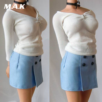 1/6 Scale Office Lady Business Suits Shirt Skirt Tie Models for Female Action Figure Accessories