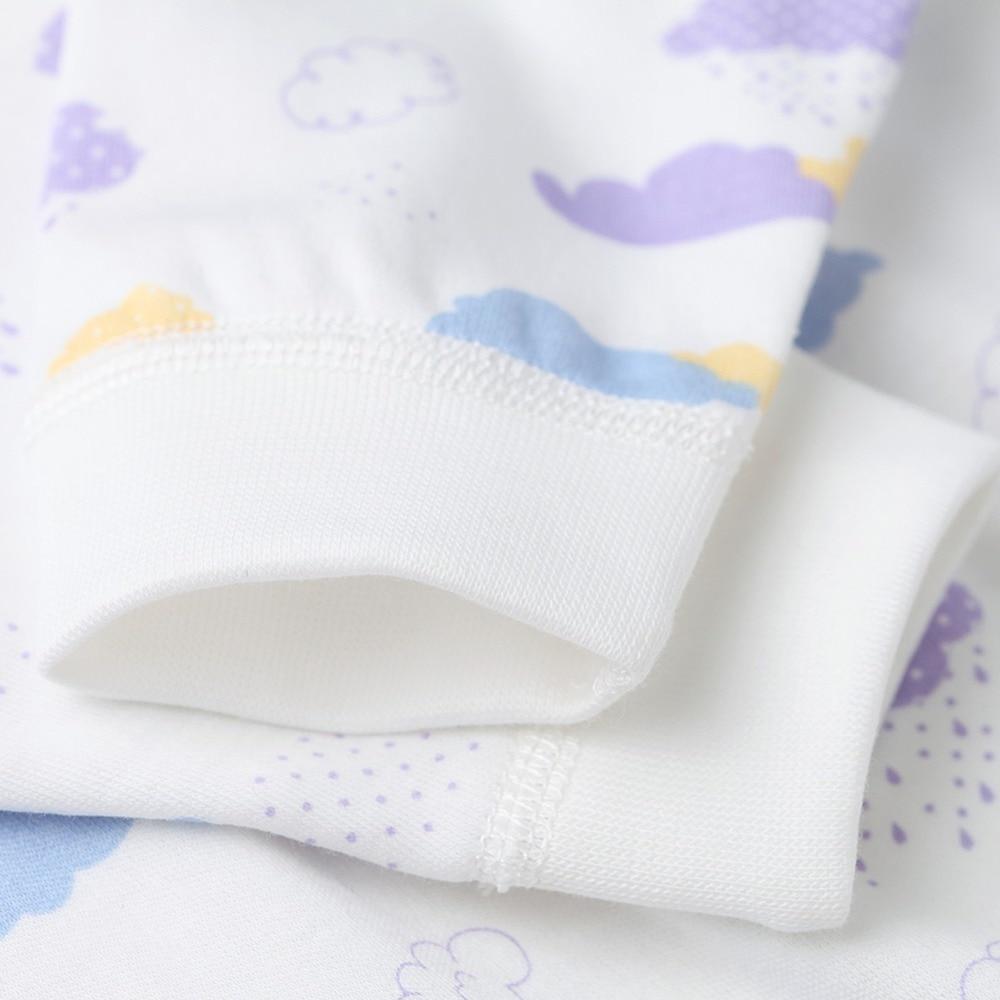 COBROO Unisex-baby katoenen rompertjes met lange mouwen wolkenpatroon - Babykleding - Foto 3