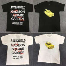 19ss ASTROWORLD TRAVIS SCOTT MSG TAXI TEE 1:1 High Quality Astroworld Tshirt Streetwear Hip Hop Skateboard Astroworld Top Tees