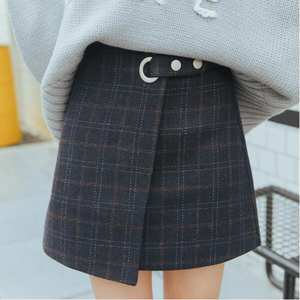 N.XINZHE Women Plaid Female Cute Kawaii Skirts Jupe Femme