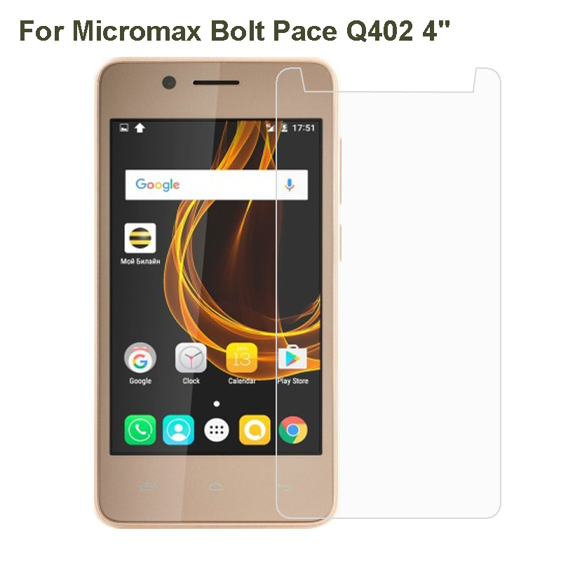 Micromax Bolt Pace Q402 Tempered Glass Protective Film For Micromax Canvas Xpress 4G Q413 Glass Screen Protector Phone Film