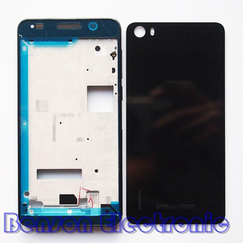 Цена за BaanSam Новый ЖК-Держатель Передняя Рама Задняя Крышка Батареи Для Huawei Honor 6 Дело Жилищного С Питания Кнопки Громкости + 3 М Клей