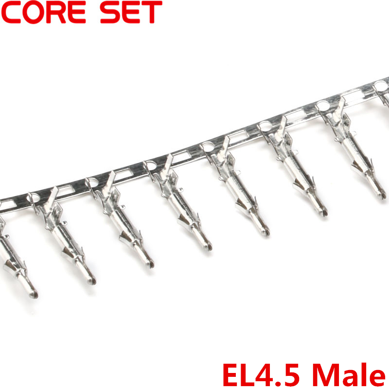 100Pcs/lot Small Tamiya Connector EL4.5 Pitch 4.5mm Male Crimps Terminal Mini Tamiya Wire Cable Housing Male Pin High Quality 1000pcs dupont jumper wire cable housing female pin contor terminal 2 54mm new