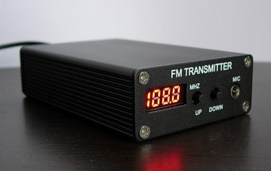 Prix pour Top qualité NOUVELLE 5 W Stéréo PLL Numérique Transmetteur FM \ Mini FM Radio Station \ Fm diffusion