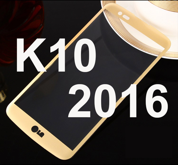 1 Pc/lot 3D Kaca Temper untuk LG K10 2016 K420N K430DS 9 H Penuh Sarung Layar Pelindung Film Eceran Kotak untuk LG K10 Emas