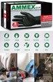 Ammex descartáveis luvas de borracha nitrílica preto (sem pó) 100 peças/manutenção mecânica de produção industrial luvas de trabalho