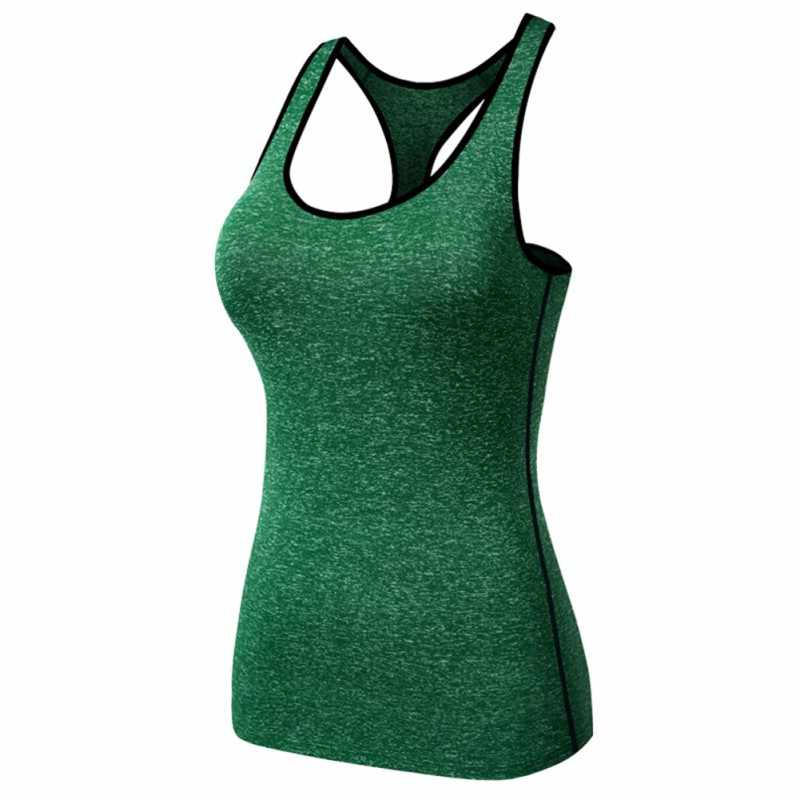 Women Workout Tank Sports Running Quick-dry T-Shirt Gym Fitness Yoga Blouse Vest