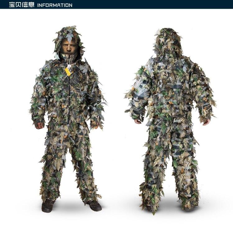Camouflage bionique extérieur chasse jungle épaisse forêt camouflage ghillie costume Remington 3D