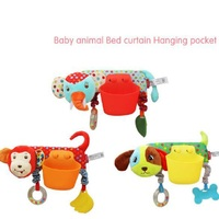 1 Pc 30 19cm Baby Animal Bed Curtain Toys Cute Cartoon Soft Plush Baby Rattle With