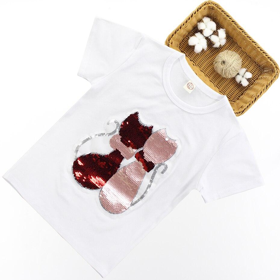 Sequined Summer T-Shirt For Girls