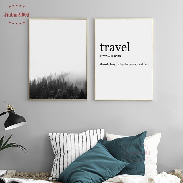 Carteles e impresiones de bosque nórdico 900D, cuadros de pared para sala de estar, lienzo, pintura, arte de pared, Decoración de paisaje YM006