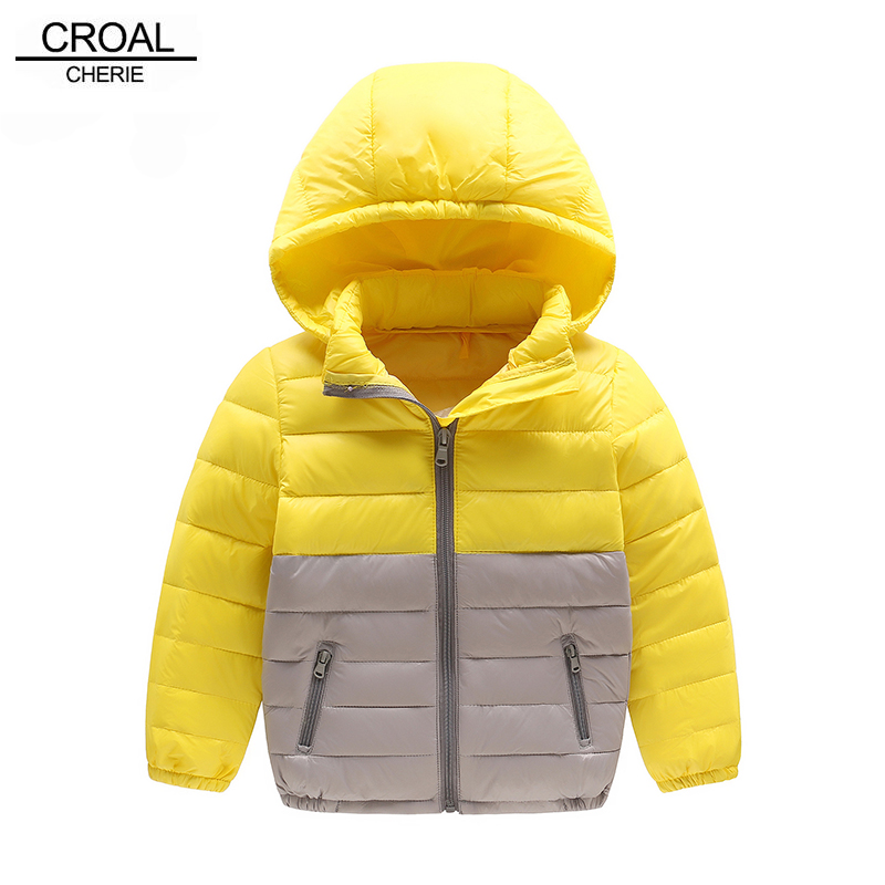 CROAL CHERIE Light Duck Down Winter Coat For Girls Parks Jackets Portable Patchwork Down jacket Clothes