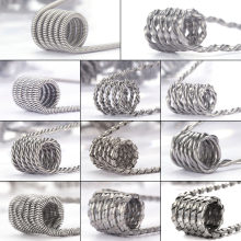 Coil Father 10pcs/box Alien Clapton Coil Flat Twisted Fused Clapton Quad Tiger Heating Electronic Cigarette Wire Premade Coil(China)