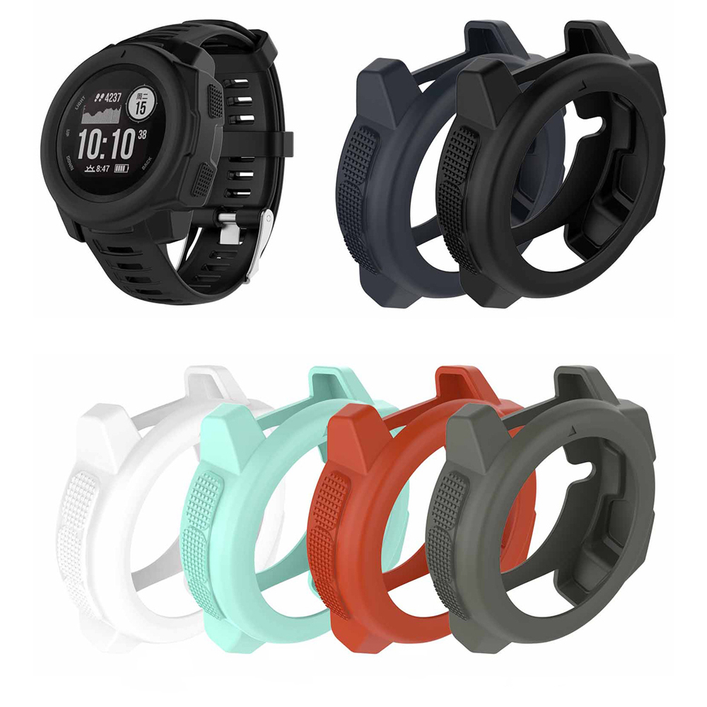 Light-weight Smart Protector Case Silicone Skin Protective Case Cover For Garmin Instinct