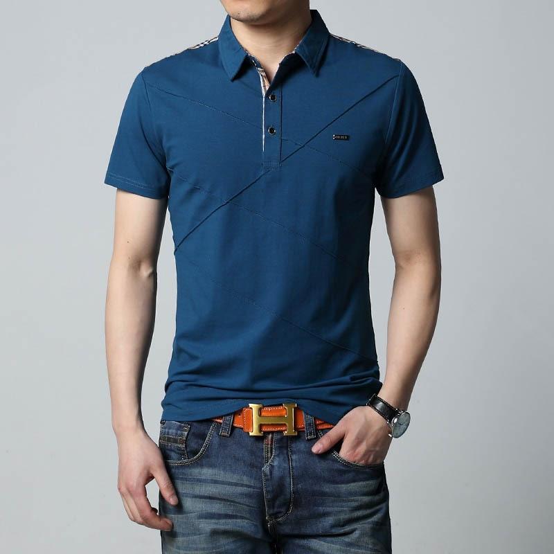 Image 3 - Mens T Shirts Fashion 2019 5XL Summer T Shirt Geometric Design Turn down Collar Short Sleeve Cotton T shirt Men Tee 5XLmen teesfashion teest-shirt men -
