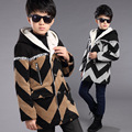 Children's Clothing Male Winter Child Outerwear 2016 Childred Woolen Thickening Top Child Cotton-padded Woolen Overcoat B475