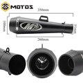 ZS MOTOS 51mm Universal de escape de la motocicleta M4 Yoshimura silenciador tubo caso para Honda CBR1000 Yamaha R6 para Kawasaki M4 de escape