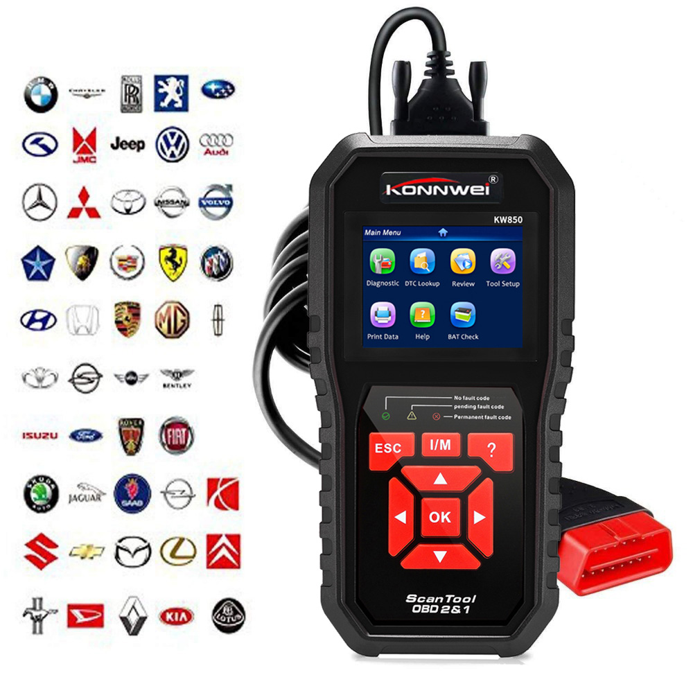 Professional OBD2 Scanner Car Code Reader Vehicle Engine Diagnostic EOBD Scan Tool for all OBDII &CAN Protocol Cars Since 1996