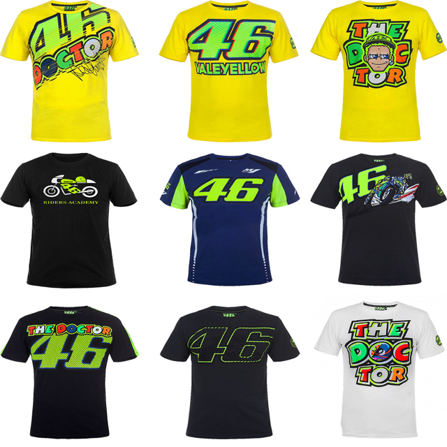 2018 Valentino Rossi VR46 Moto GP Monza Rally Replica T-shirt 46 the Doctor  for Yamaha M1 T-shirt 6cfa2dda29483