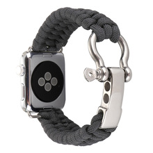iWatch Apple 38mm 42mm Nylon Rope Survival Bracelet